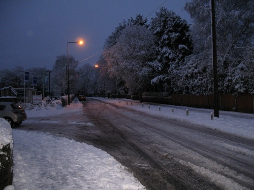 Winter in West Lancashire - no fun for motorists