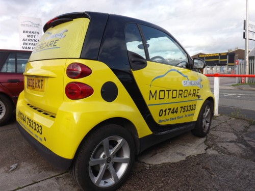 The St Helens Motorcare Smart Car