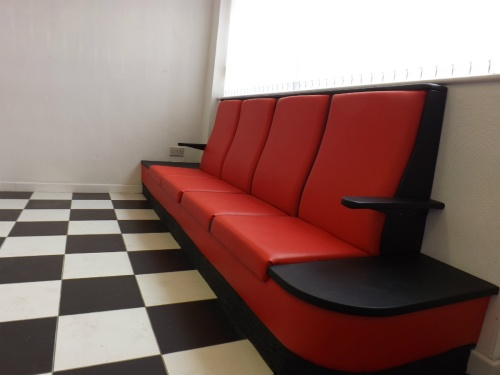 New seating in reception at St Helens Motorcare